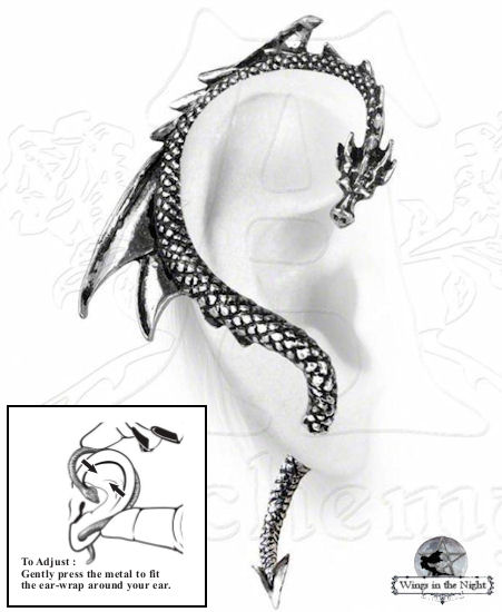 Alchemy Gothic Dragon's Lure - Gothic Ear Wrap Earring