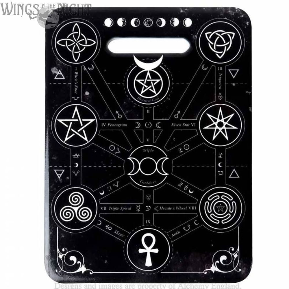 Alchemy Gothic Magic Symbols Ceramic Trivet | Gothic Home & Ware