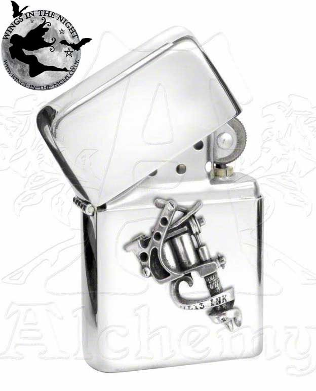 Alchemy Gothic Tattoo Gun Petrol Lighter