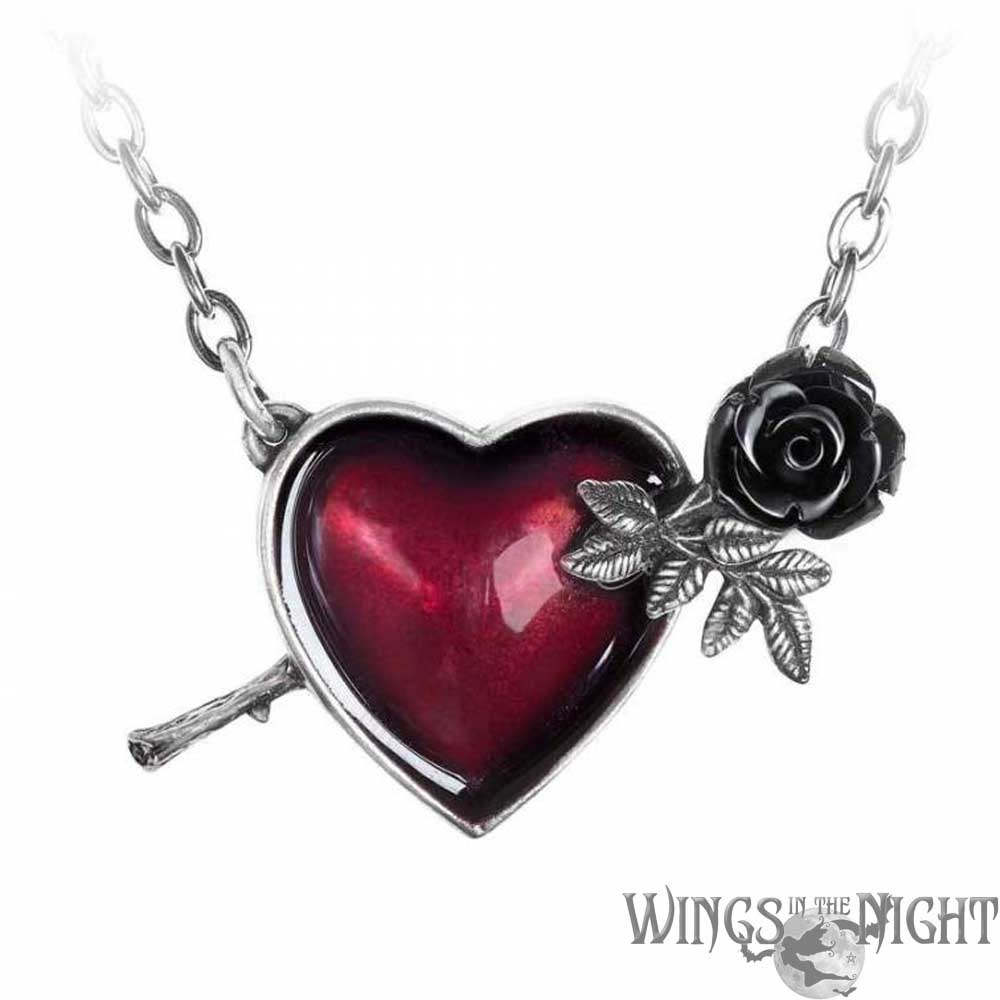 ALCHEMY GOTHIC  Wounded By Love Heart Necklace