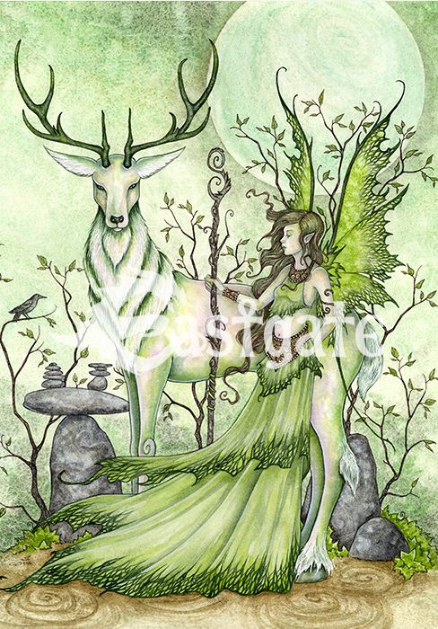 AMY BROWN Guardian Gothic Fairy Greeting Card