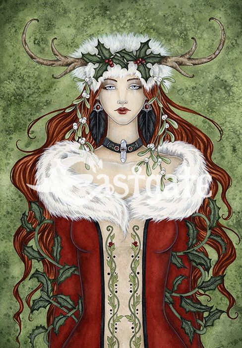 AMY BROWN Winter Solstice Yule Card