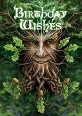 Anne stokes birthday wishes oak king pagan greeting card m4hsunfo