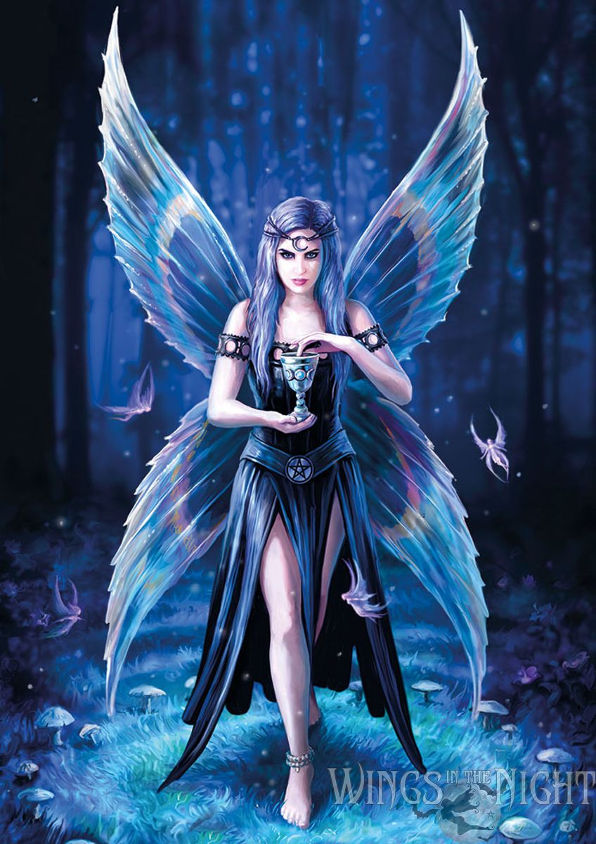 Anne stokes enchantment gothic fairy greeting card - Most beautiful dark wallpapers ...