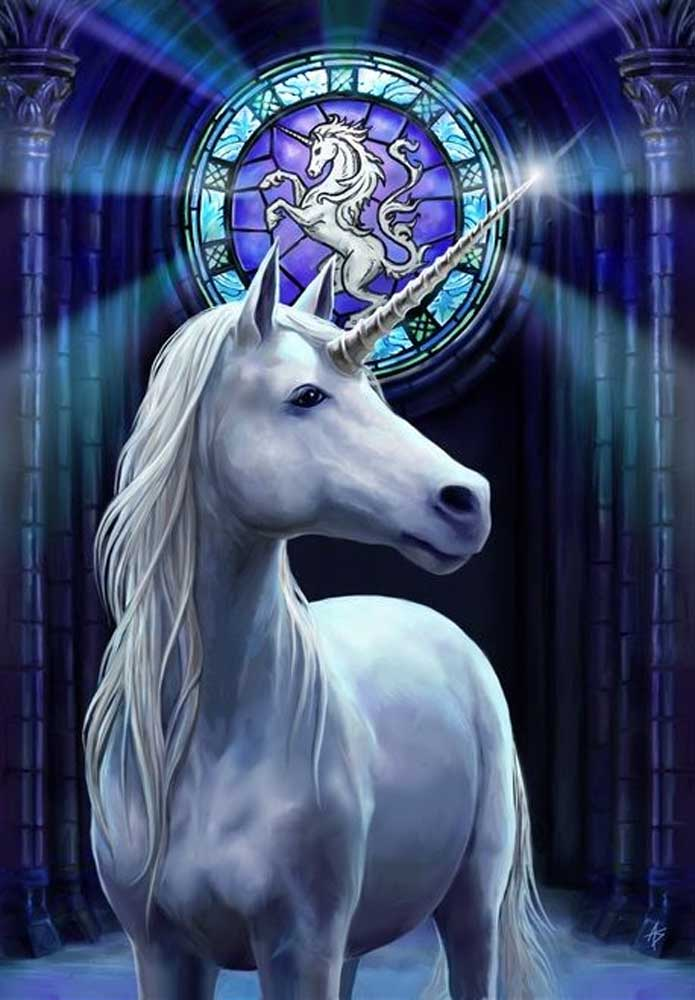 Anne Stokes Enlightenment Unicorn Greeting Card