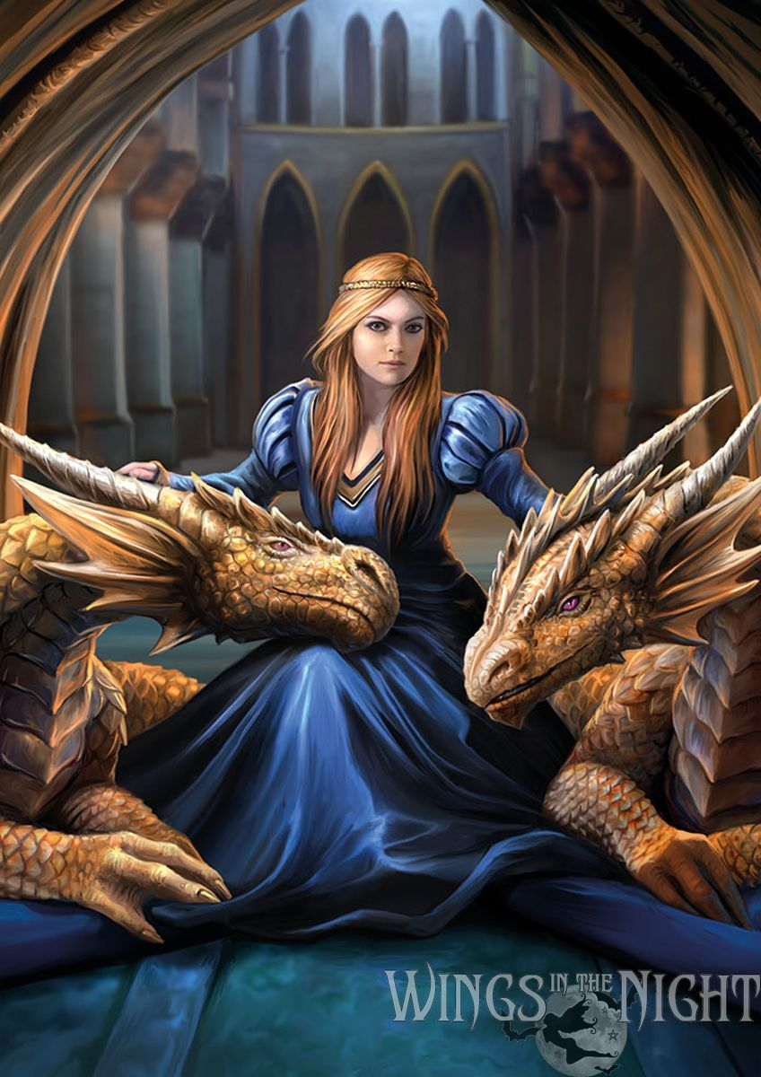 ANNE STOKES Fierce Loyalty Mythical Dragon Greeting Card