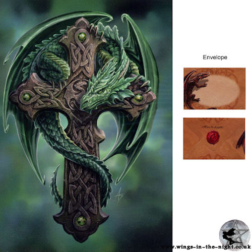 ANNE STOKES Gothic Dragon Woodland Guardian Greeting Card