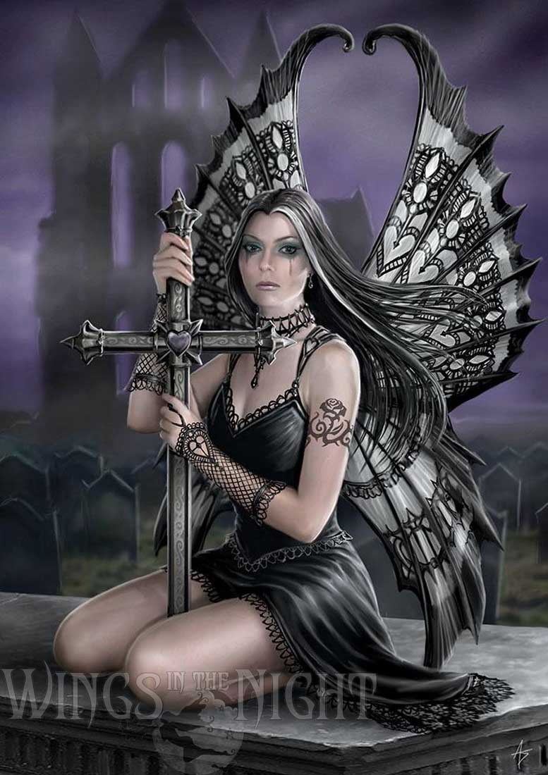 Anne Stokes Gothic Fairy Lost Love Greeting Card | Gothic Home & Gifts