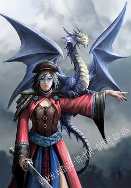 ANNE STOKES Look to the East Dragon Greeting Card