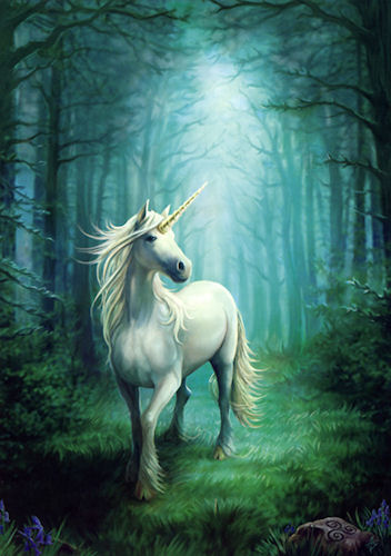 ANNE STOKES Magical Forest Unicorn Greeting Card