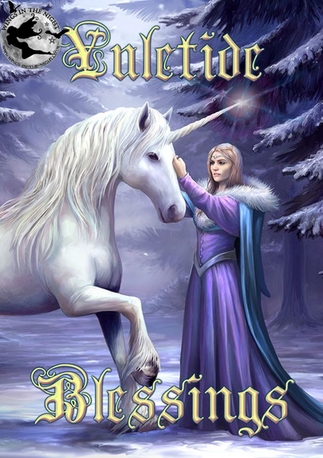 Anne stokes pure magic unicorn yule greeting card m4hsunfo