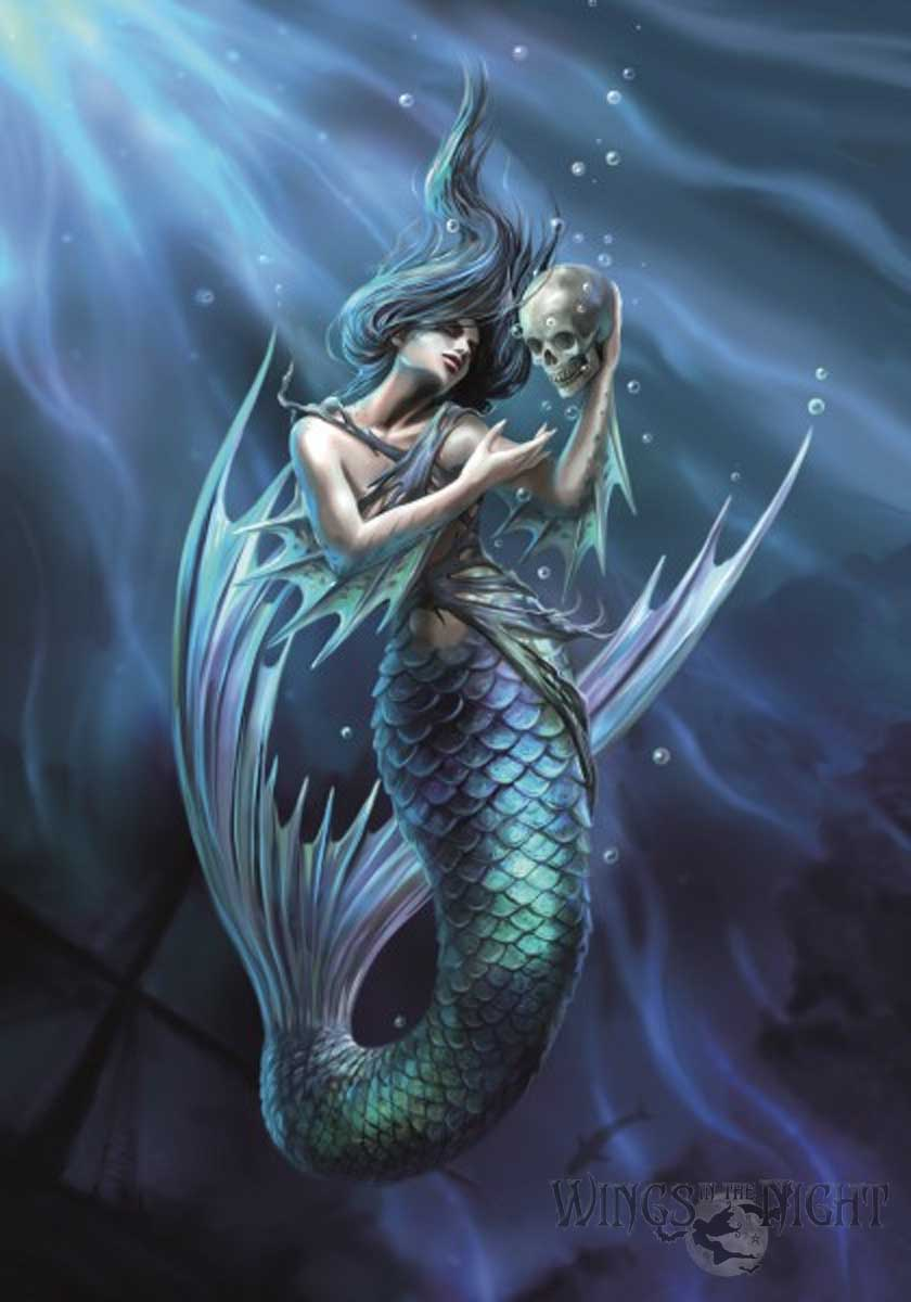 Anne Stokes SAILOR'S RUIN Mermaid Fantasy Greeting Card