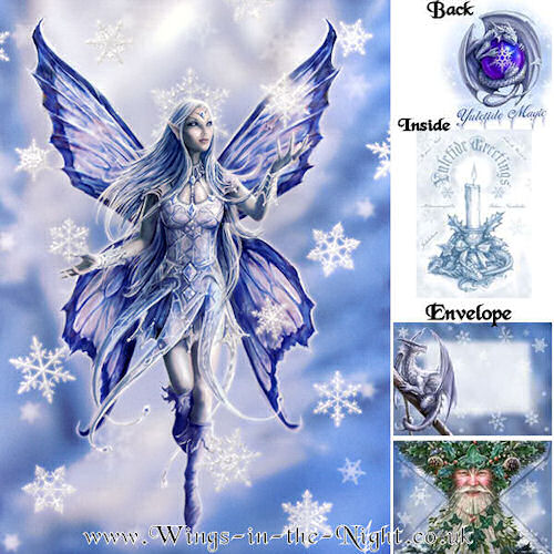 Anne Stokes Snowflake Fairy Greeting Card