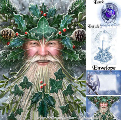 Anne Stokes Spirit of Yule Pagan Greeting Card