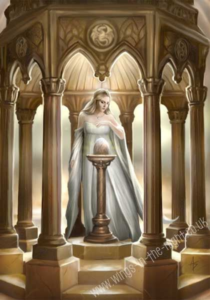 ANNE STOKES The Egg Mythical Greeting Card