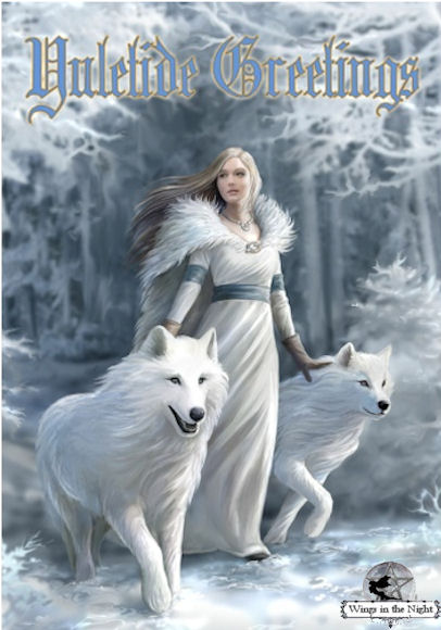 Anne Stokes WINTER GUARDIANS Yule Greeting Card