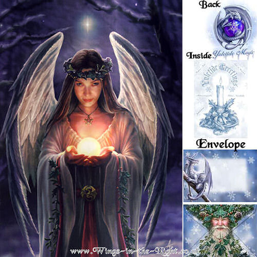 Anne Stokes Yule Angel Greeting Card