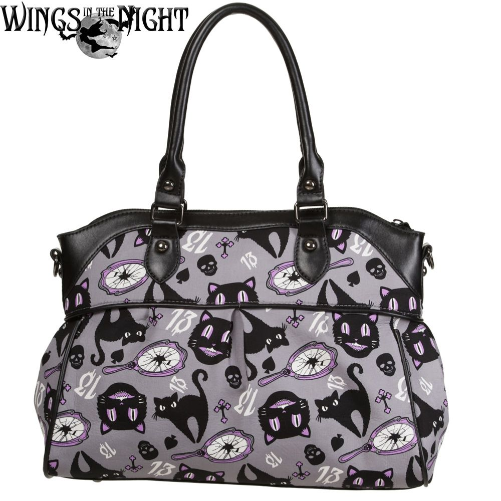 Banned Ladies Gothic CUT LOOSE Hand Bag