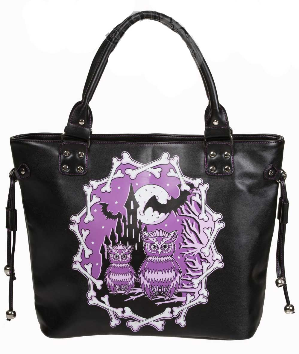 BANNED Ladies Gothic Purple Secret Obsession Shoulder Bag