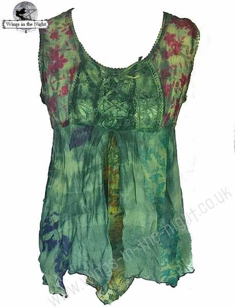 BARES Hippy Sleeveless Summer Dress Top