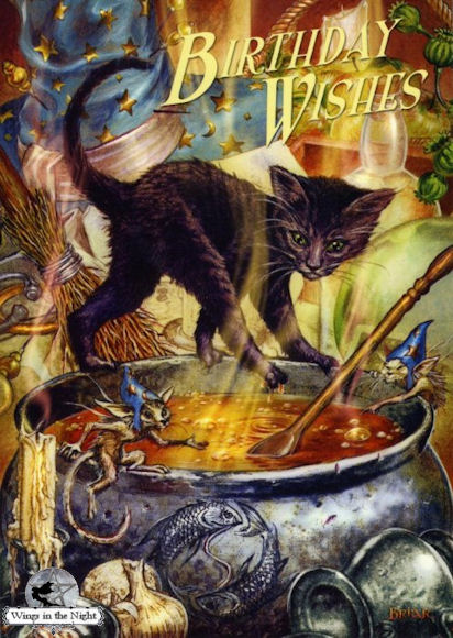 BRIAR Cauldron Capers Magical Birthday Card