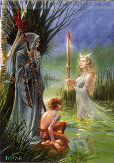 Pagan witchcraft wiccan greeting cards briar lady of the lake pagan greeting card m4hsunfo