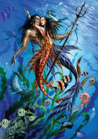 Briar Mythological Mermaid Folk Greeting Card