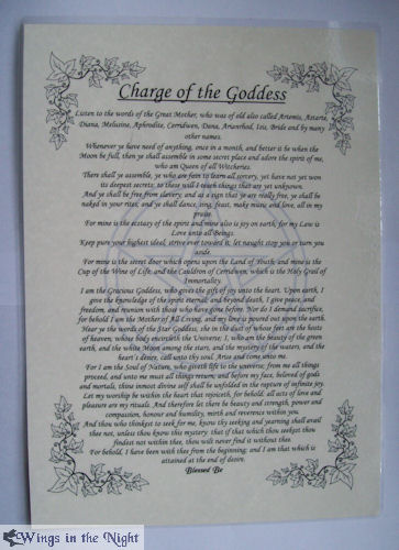 Charge of the Goddess A4 Laminated Poster