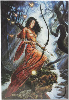 Diana Pagan Mythology Greeting Card by Briar