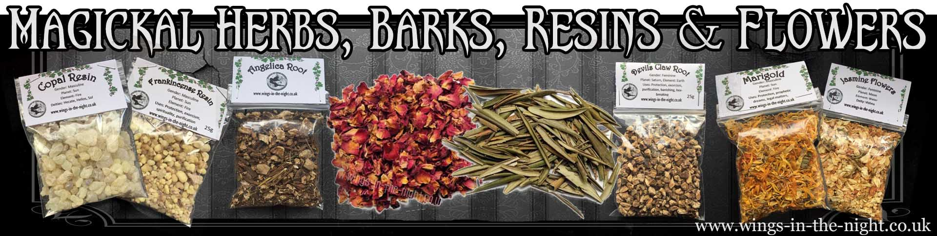 Pagan, Wicca and Witchcraft | Dried Herbs, Barks, Resins & Accessories