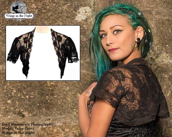 Jordash Ladies Gothic Black Lace Shrug