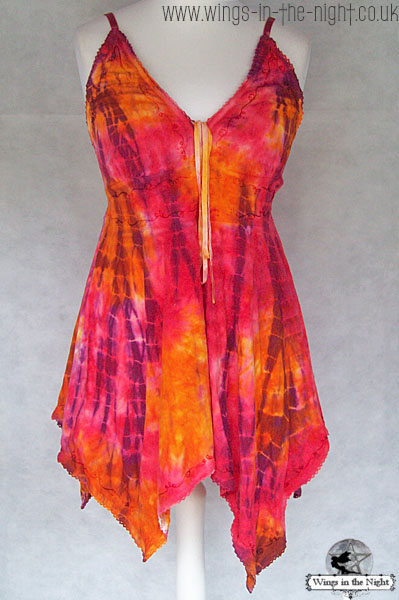 Ladies Hippy Tie Dye Short Dress / Long Top