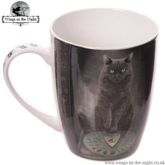 Lisa Parker His Masters Voice Black Cat China Mug
