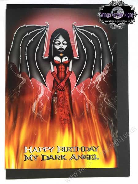 NIGHT MOTH Gothic Card - Happy Birthday my Dark Angel