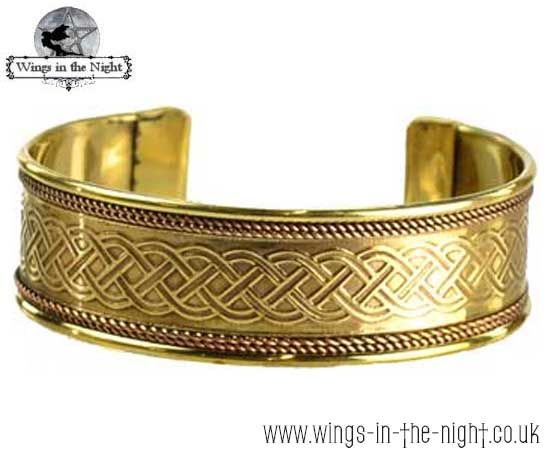 Pagan CELTIC Brass Bangle
