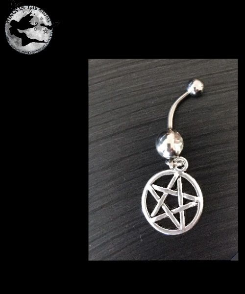 Pentagram Steel Navel / Belly bar