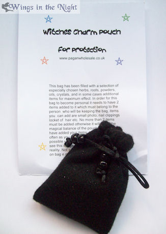 Protection Witches Black Charm Pouch