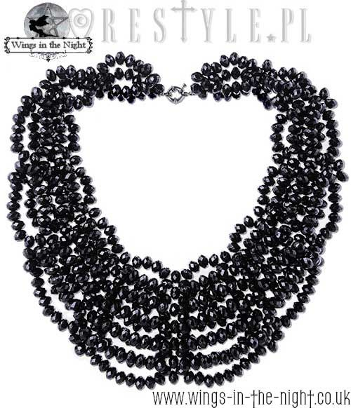 "RESTYLE Gothic Black Beaded Choker ""Laura"""