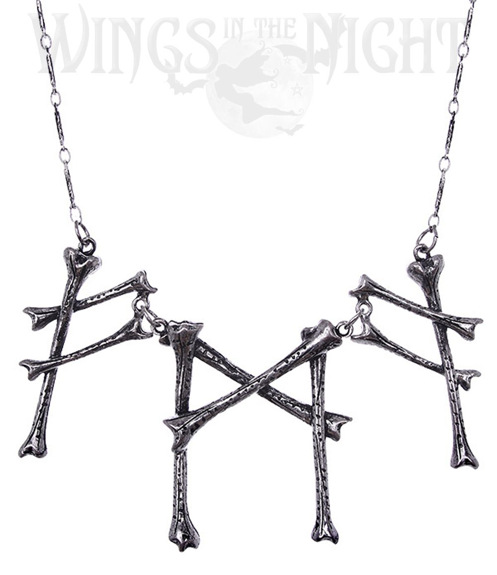 RESTYLE Gothic Runic Bone Signs Necklace | Gothic, Pagan Jewellery