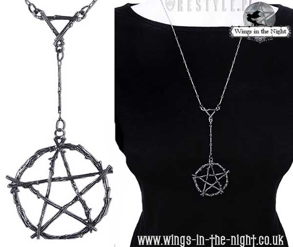 Restyle pagan branch pentacle necklace gothic jewellery aloadofball Gallery