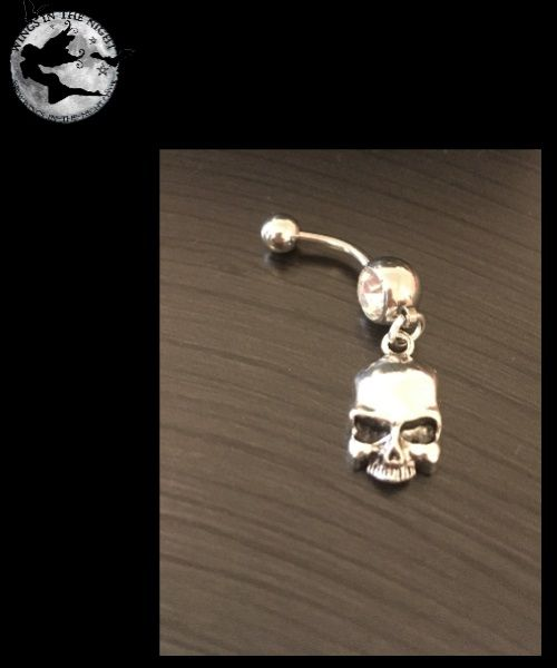 Skull Steel Navel / Belly Bar