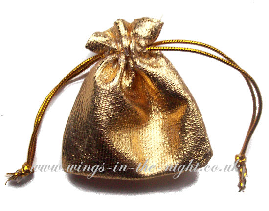 Small Shiny Drawstring Pouch 7 x 9 cm