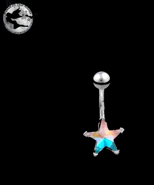 Star Navel / Belly Bar Silver