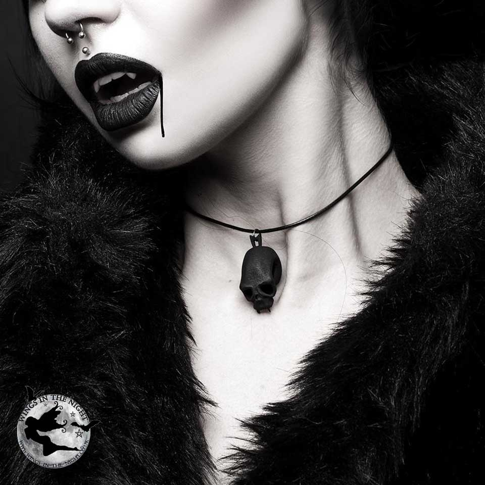 The Rogue + The Wolf BLOOD JUNKIE Black Choker | Gothic Alternative Jewellery