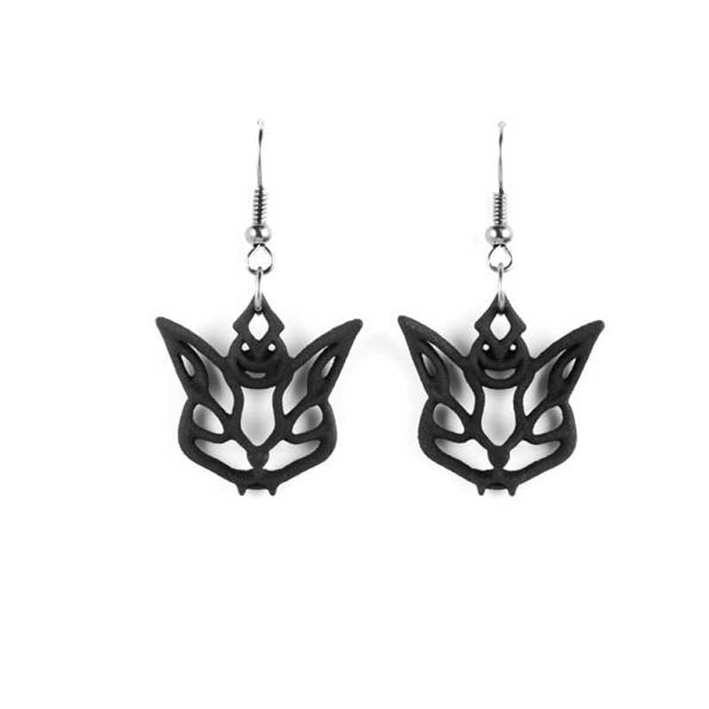 The Rogue + The Wolf Cat Familiar Gothic Black Earrings