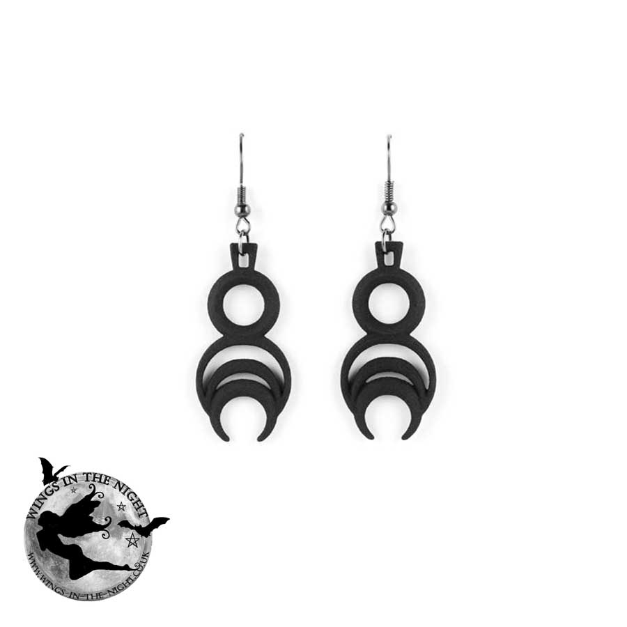 The Rogue + The Wolf CHRONOS Gothic Black Earrings | Gothic Jewellery