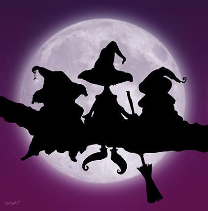 Which Witch is Which Gothic Greeting Card