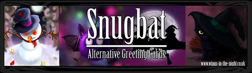Snugbat Gothic Alternative Greeting Cards, Unusual Gothic Christmas Cards